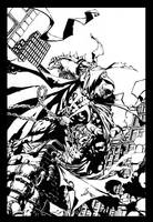 David Finch Spawn inked by scribblebri