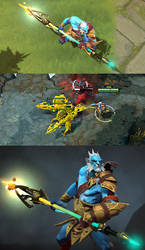Phantom Lancer immortal weapon by DimensionalDrift