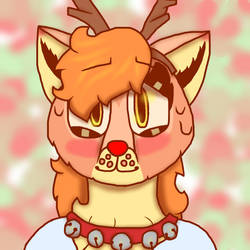 Amber the red-nosed wolf-deer by OOFMF