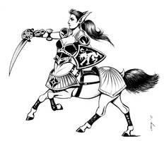 Centaur in Armor by Dustmeat