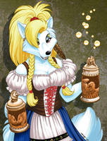Barmaid in Color by Dustmeat