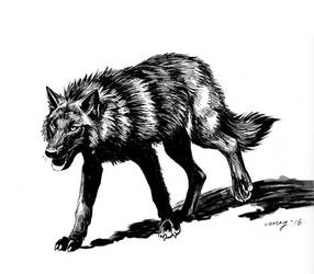 Wolf dog by Dustmeat