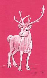 Red Reindeer by Dustmeat