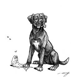 Black dog by Dustmeat