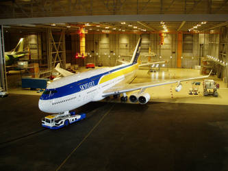Skyfleet S570 aircraft and hanger miniature Casino by ArthurTwosheds