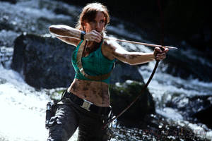 Lara Croft - Waterfall Shoot - Series 3 by MrAdamJay