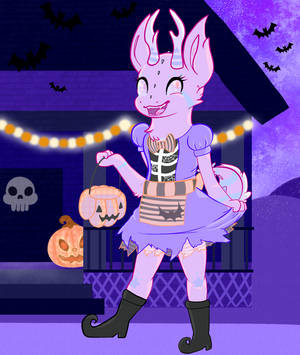 Mira Halloween by Featherheartist