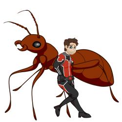 Ant Man and The Ant by Featherheartist