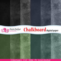 Chalkboard digital papers by PolpoDesign