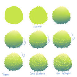 Simple Foliage Tutorial by FirstiArt