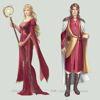 c: Gold Elves by MidnightTea7