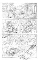 Wonder Woman vs. Circe Pencils by John-Curtis-Ryan