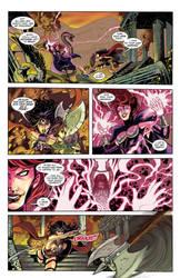 Wonder Woman Vs Circe finished colors by John-Curtis-Ryan