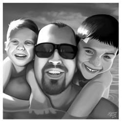 Dean Kurtis And Michael Digital Portrait by John-Curtis-Ryan