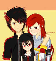 Shadow X Erza w/ Daughter Young Akame by MergedZamasuVA