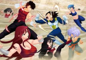Shadow Family VS Vegeta Family(Anime Tournament) by MergedZamasuVA