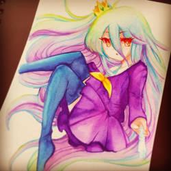 Watercolor NGNL Shiro by NekoponArt