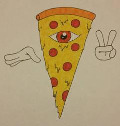 Pizza God (Mozzarellose) by EdgeHogX