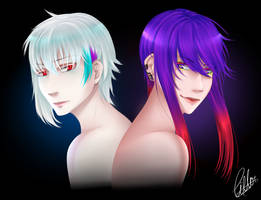 Nero and Stefan - Human Form by CIELO-PLUS