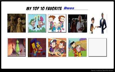 Top 9 Favorite Dous by purpleheart95