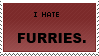 Stamp: I hate furries. by killthelight-s