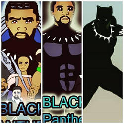 Black Panther drawn Anime Style  by WillieD891