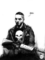 'Beg.' - Frank Castle by anveshdunna