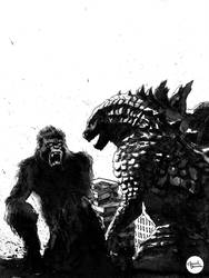 Godzilla vs. Kong by anveshdunna