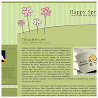 Spring Blogger Template by arwenita