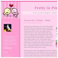 Pretty in Pink - Blogger Theme by arwenita