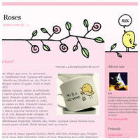Pretty Roses - Blogger Theme by arwenita