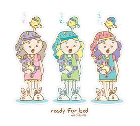 BirdieSays 'Ready for bed' by arwenita