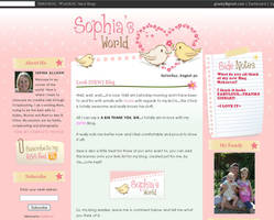 Sophia's World blog design by arwenita