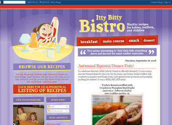 Itsy Bitsy Bistro for Blogger by arwenita