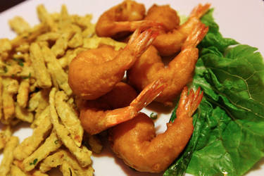 Shrimp and yam bits by jeffzz111