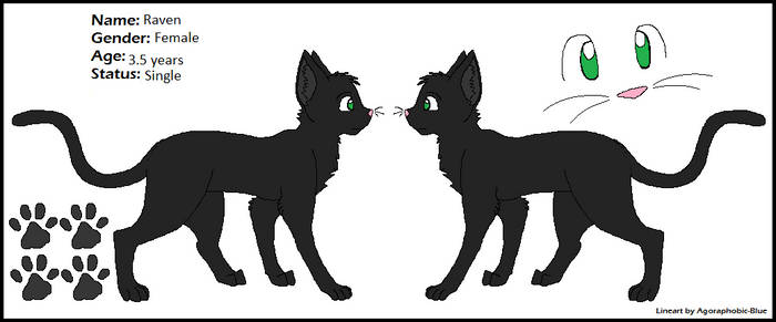 Raven- Felidae OC by BittyKitty1