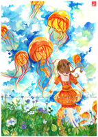 Amongst the Jellyfish by lynchees