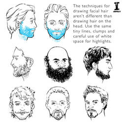 Day 6 of Sketchember: Facial Hair by impactbooks