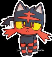 Pokemon - Litten by CecilEggs