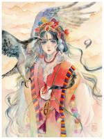 Tibetan - The Falcon girl by KannyMOs