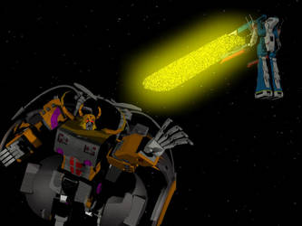 SDF-1 Vs Unicron by X1Commander