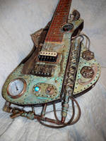 Steampunk Lapsteel guitar by Leftstrat
