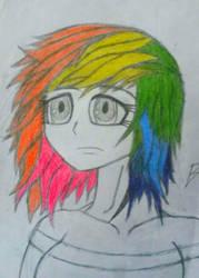 Human Rainbow Dash! by Bass-Senpai