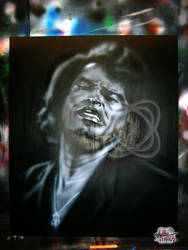 Airbrushed James Brown by mavensupreme