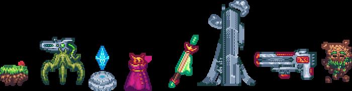 Random pixel arts and sprites by Luigra