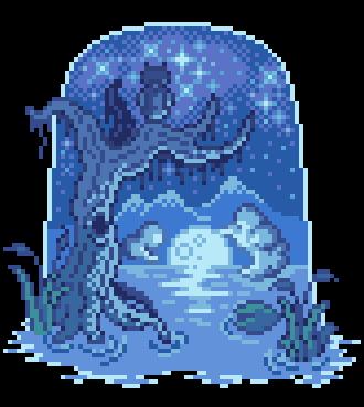 Moonlight swamp by Luigra