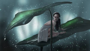 Elf in the Rain by Scharle