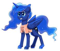 Gamer Luna (Redraw) by RavenSunArt