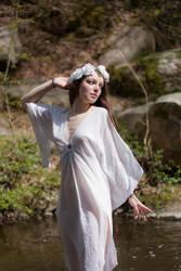 White dress stock 01 by DameTenebra