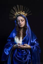 Madonna - Blue Mother by DameTenebra